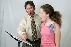 a singing lesson, aka a voice lesson